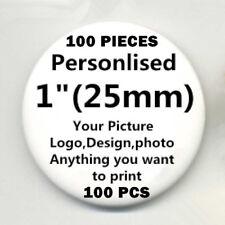 "100 Custom Personalised COMIC MOVIE Pin Back Pin Button Badge pinback 1"" 25mm D5"