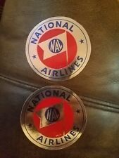 2 Vintage National Airlines luggage Label 1950s