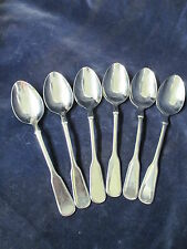 Vintage 18/10 Crom Nickel Stahl H Solingen 6 Soup Spoons 1st set Crown w/ P mark