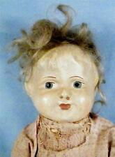 Antique Papier Mache Doll Blonde Hair Original Dress Jointed Arms & Legs Paper