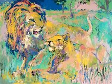 LeRoy Neiman LION COUPLE unframed Hand Signed Limited Edition on Paper L@@K