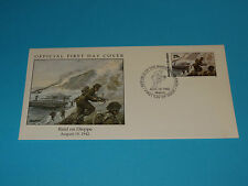 WWII FDC W49 Canada Britain Germany Raid on Dieppe * 6000 Allied Troops Lost