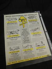 VTG Print Ad Michigan Motels Detroit Flint Royal Oak Lansing Golden Key AAA Mod