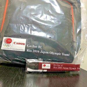 Canon original messenger bag &strap winning item set of 2 rare 2016 Olympic