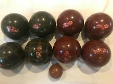 🇮🇹Vintage Sportcraft Bocce Ball Set Used- Made In Italy 8 Balls 1 Jack Pallino