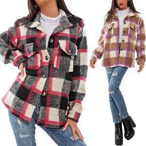 Giacca pesante donna quadri Buffalo scozzese invernale lana TOOCOOL VI-1300