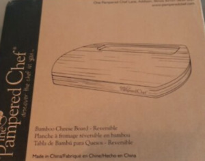 Pampered Chef - Reversible Cheese Board NIB NEW