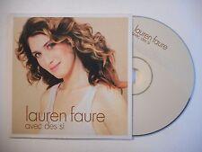 LAUREN FAURE : AVEC DES SI ♦ CD SINGLE PORT GRATUIT ♦