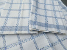 """Unused 3 (Three) Checkerboard Linen Towels Blue Stripes 28 """"by 20"""" Us-$32.95"""