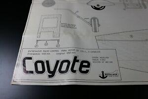 ZF1666 Modelhob plan maquette avion Coyote Espagnol Ref M81/1280
