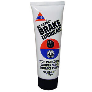 AGS Sil-Glyde Silicone Brake Lubricant - Non Melting and Waterproof - 8 oz tube