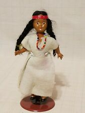 """Vintage 7-1/4"""" Plastic Native American Doll with movable joints"""