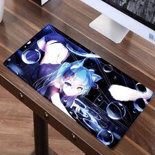 Large 60X30cm XL Sexy Anime Mouse pad Game Gamer gaming Hatsune Miku Mousepad...