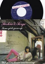 Saskia & Serge DUT PROMO PS 45 Some girls grow up NM '78 Eurovision Pop