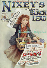 1903 Nixey's Refined Black Lead Grate & Stove Polish Advertising Postcard B276