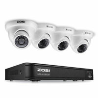 ZOSI HD  8CH HDMI DVR 1500TVL IR Outdoor CCTV Security1080p  Dome Camera System