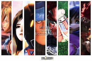 RGC Huge Poster - Final Fantasy IX Characters PS1 PS2 PSP PS4 - FIX004