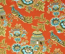 BELLE ROYAL GARDEN - Amy Butler - Birds - Cages - Orange -Fabric - 1/2 Yard