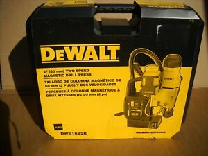 "DeWALT DWE1622K 11 Amp 2-Speed 2"" Magnetic Drill Press Tool Kit NEW"