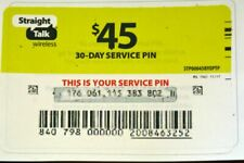 Straight Talk $45 30-day Service Pin