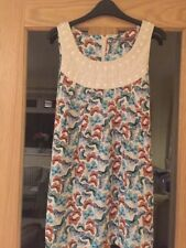 Dorothy Perkins Size 14 Butterfly Patterned  Long Top With Tie Belt