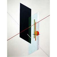 Moholy-Nagy A IX Constructivist Abstract Painting XL Canvas Art Print