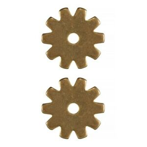 """Pair Brass Spur Rowels No 46 / 1.1/16"""" 10  Point Cowboy Boots Replacement"""