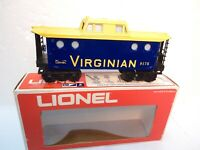 Lionel 9175 Virginian Porthole blue/yellow caboose for O/O27 gauge op. with box-