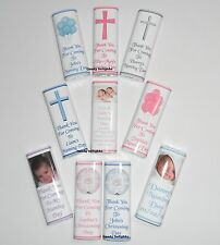100 Personalised Naming Day Chocolate Bar Wrappers  Favours, Gifts