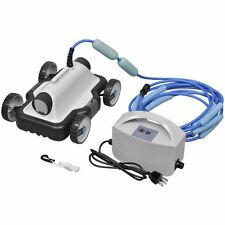 Above-Ground Robotic Swimming Pool Cleaner Automatic Pool Vacuum w/ 29.5ft Cable
