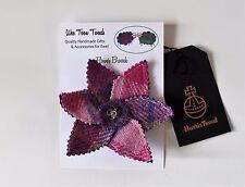 Pink Harris Tweed Flower Brooch,mother's day,birthday,bridesmaids,scottish