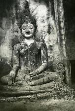 Indochina Laos Vientiane Boudha old Amateur Snapshot Photo 1930