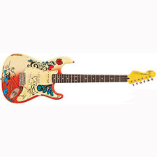 Vintage V6MRHDX Icon Series Summer of Love Electric Guitar Daniel Hahn Graphic