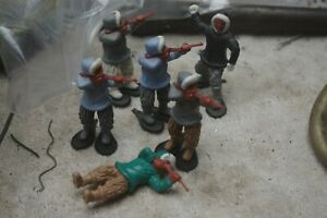 lot jouet figurine timpo toys esquimo starlux elastolin