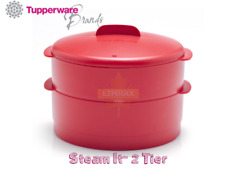 TUPPERWARE Steam It 2 Tier/Layer Limited Edition Chilli Red Healthy Diet Cooking