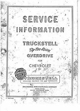 Truckstell Tip-Toe-Matic Overdrive Model 101 - 103 Manual for Chevrolet 26 pages
