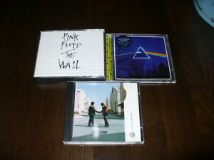 ++ PINK FLOYD - 3 CDs - Wish you / Dark side / The Wall ++