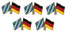 5er Pack Freundschaftspin Bayern - Deutschland, Pin, Flagge, Anstecknadel