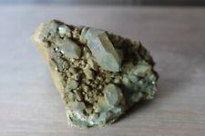 Quartz chlorite sur roche; Cristal de roche Alpes Suisses 200 grammes