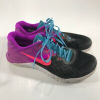 Nike Women's Metcon 3 Black Purple CrossFit Athletic Low Top Shoes Size 9