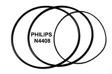 SET BELTS PHILIPS N4408 REEL TO REEL EXTRA STRONG NEW FACTORY FRESH N 4408
