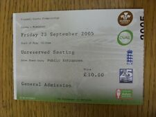 23/09/2005 Ticket: Cricket, Surrey v Middlesex . Thanks for viewing this item, b