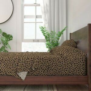 Leopard Leopard Animal Panther Cheetah 100% Cotton Sateen Sheet Set by Roostery