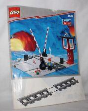 LEGO City Eisenbahn 4539  Bahnübergang mit Wärterhaus,Manual Level Crossing 1991