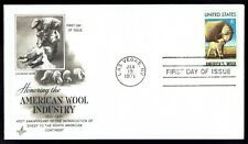 US 1423 America's Wool Jan 19 1971 Art Craft First Day Cover F1423-2