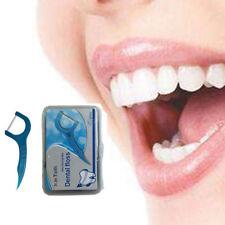 50 Pcs Travel Dental Floss Holder Oral Care Picks Teeth Care Interdental Flosser