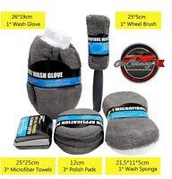 9 Piece Microfibre Set - Perfect for Shine Armor, Produxa,TLC2, Pearl Nano, Cars