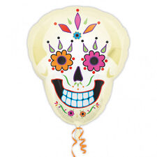 Halloween GIORNO DI MORTI SUPERSHAPE FOIL BALLOON DECORAZIONE SCHELETRO TESCHIO ZUCCHERO