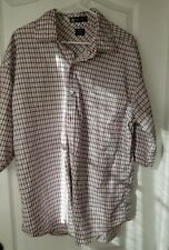 Sean John Mens Button Front SHORT Sleeve Cotton Plaid Shirt 3XL XXXL