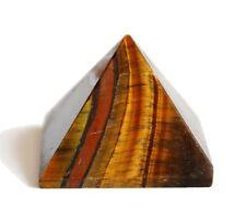 Reiki ENERGÍA CARGADO Tigres Ojo Pirámide Cristal Piedra Cristal Curación Natural